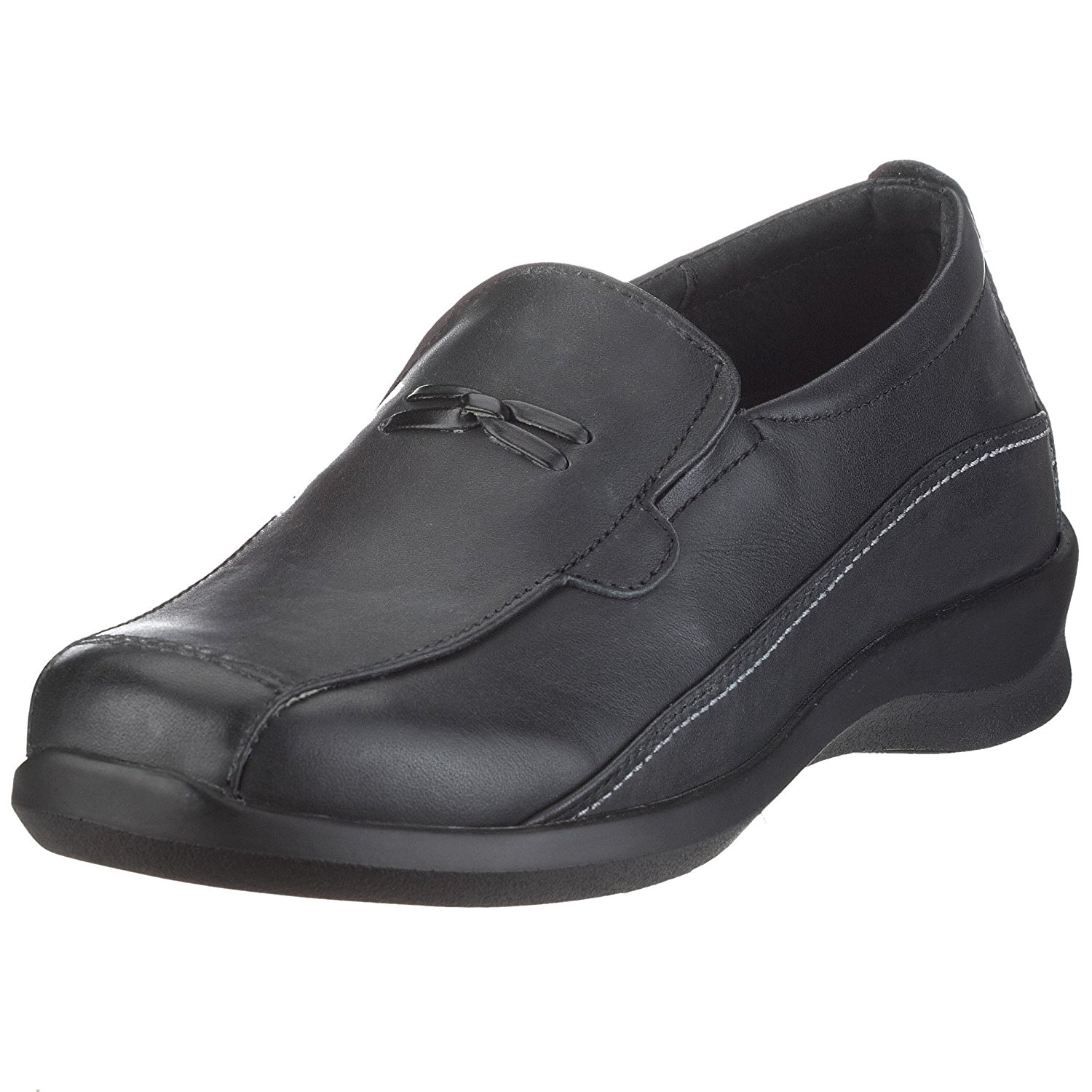 Aetrex E220 Rosalynn Women's Black Slip-on Loafer by Aetrex