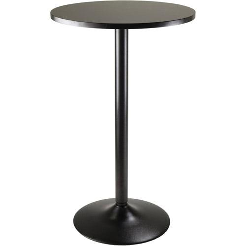 "Obsidian 24"" Round Pub Table, Black by Generic"