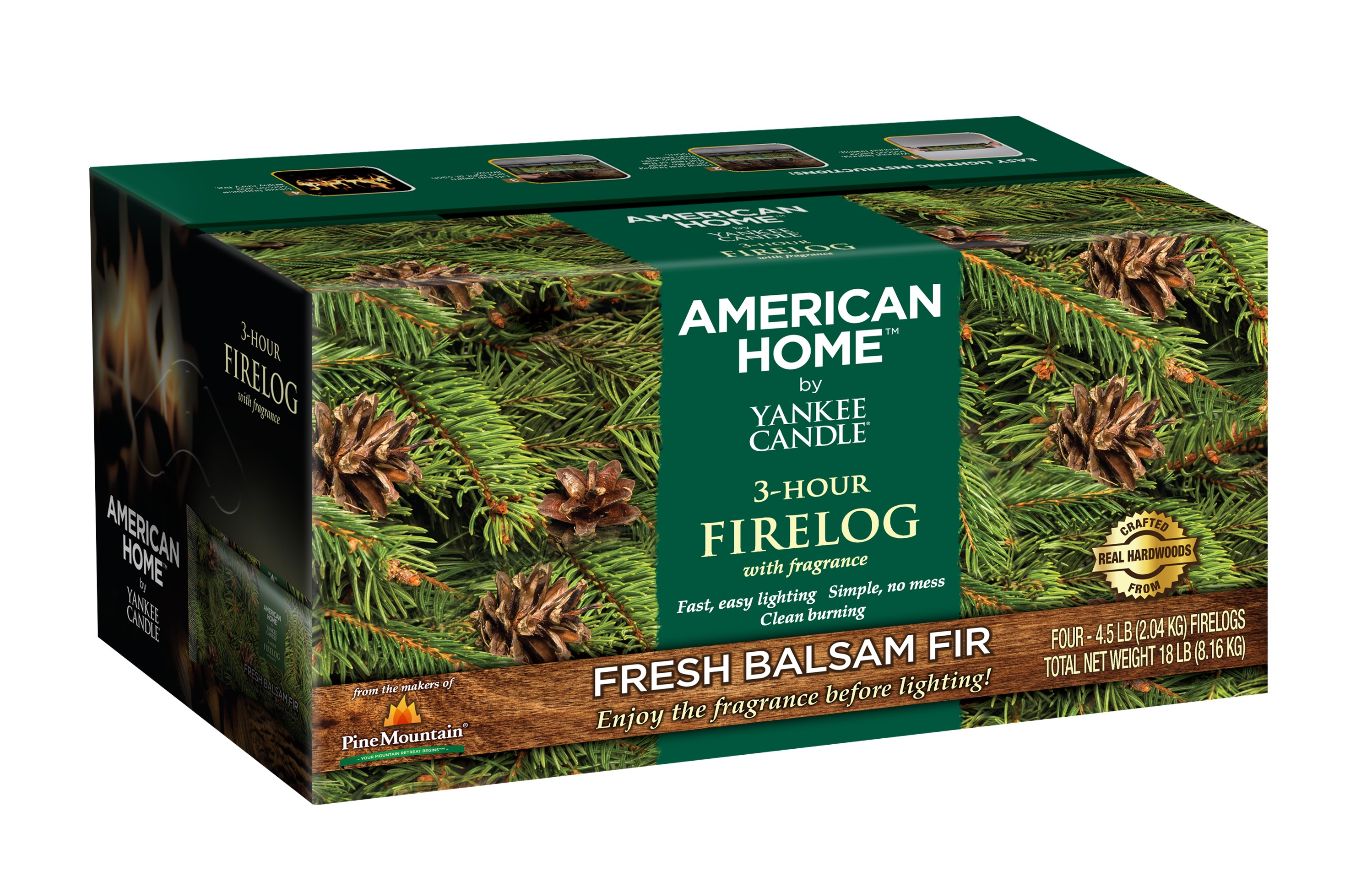 Pine Mountain American Home by Yankee Candle Fragrance Firelog ...