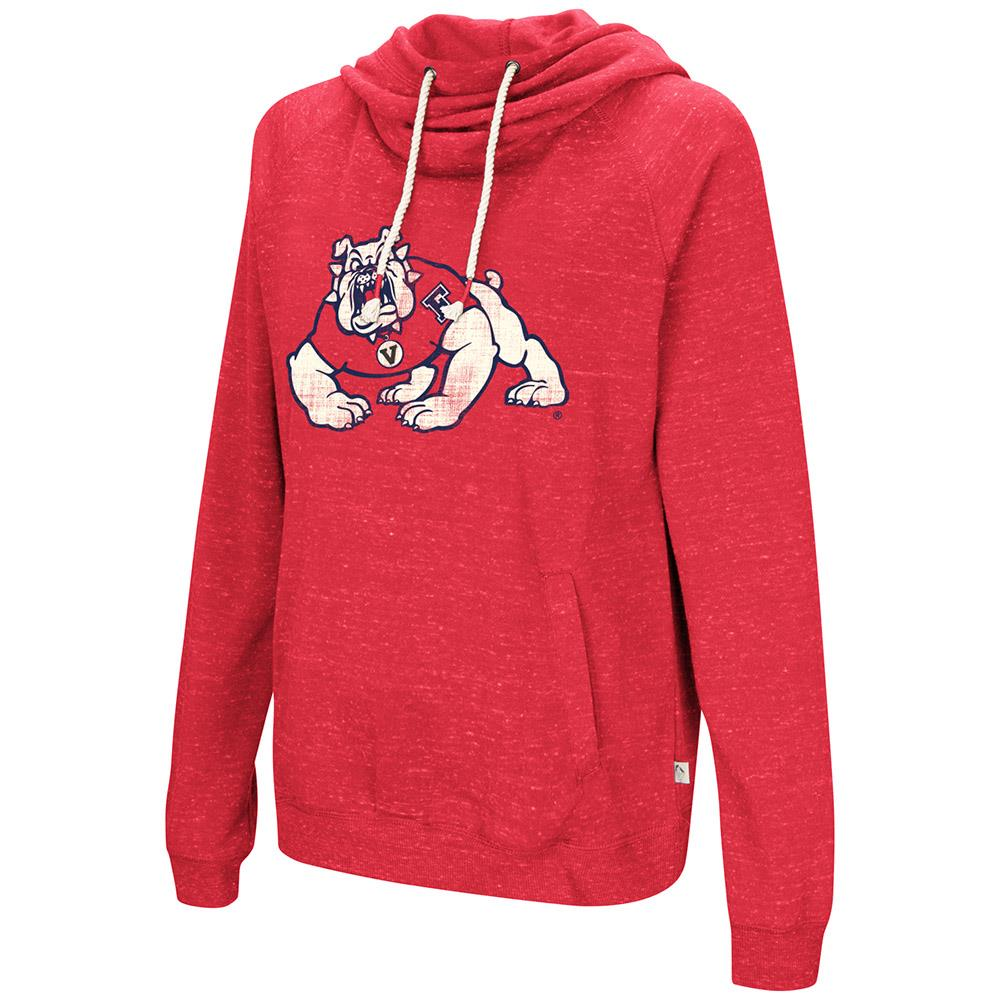 Womens Fresno State Bulldogs Pull-over Hoodie - S