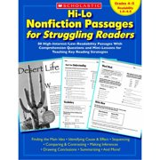 Scholastic Hi-Lo Nonfiction Passages for Struggling Readers, Multiple Grades