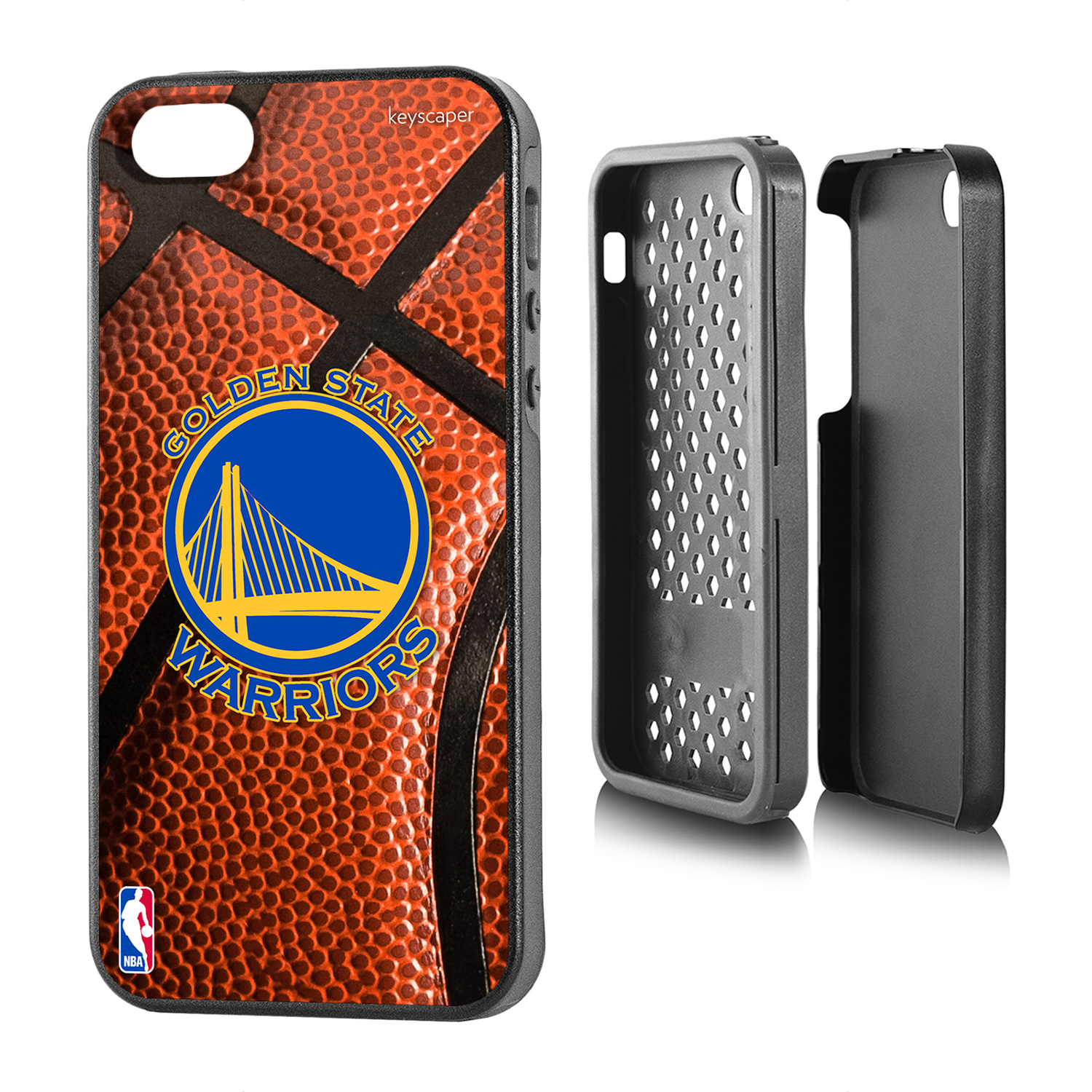 Golden State Warriors Basketball Design Apple iPhone 5/5S Rugged Case by Keyscaper