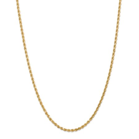 Roy Rose Jewelry Leslies 14K Yellow Gold 3mm Diamond Cut Rope Chain Necklace ~ Length 18'' inches
