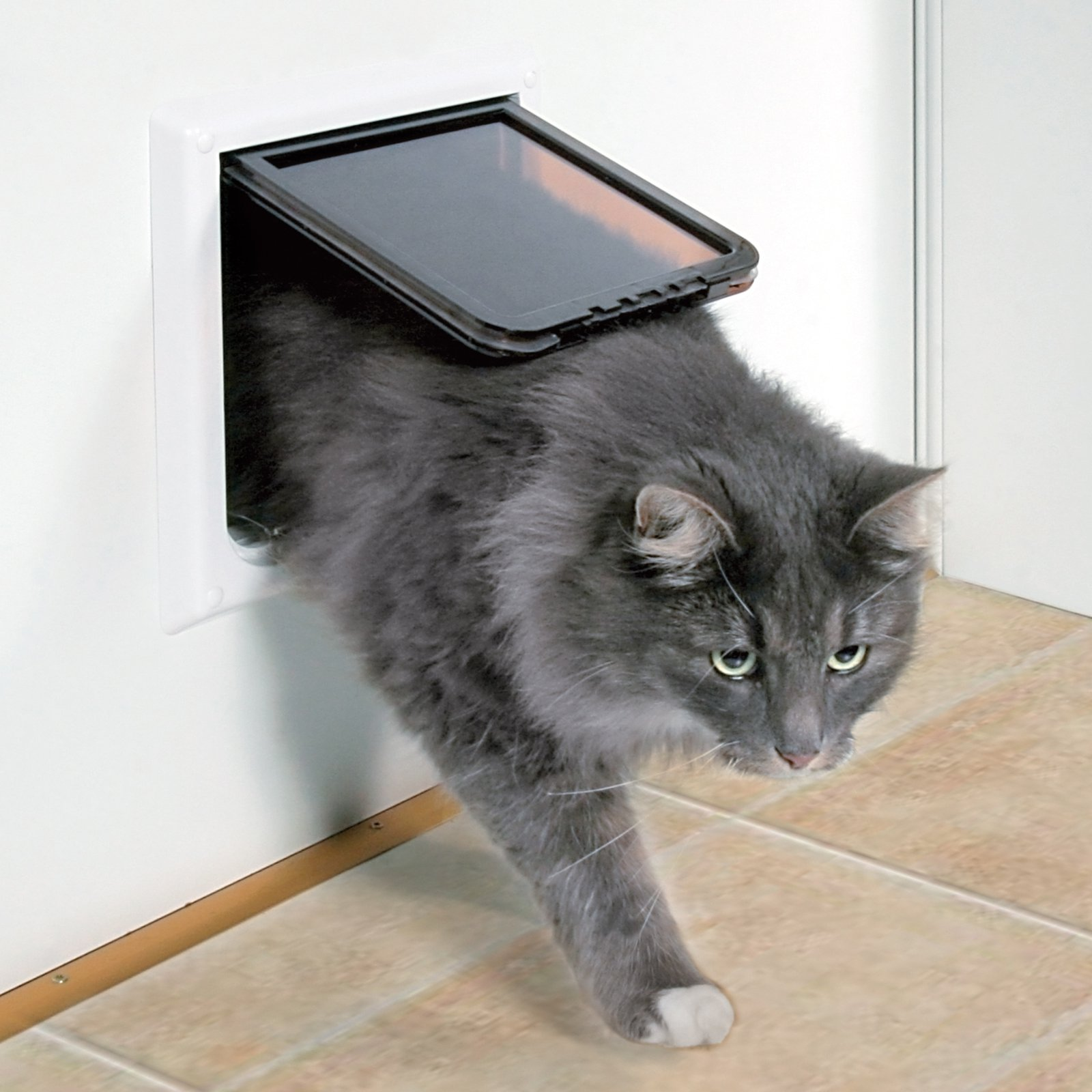 Trixie Pet Products 4 Way XL Plastic Cat Door with Tunnel