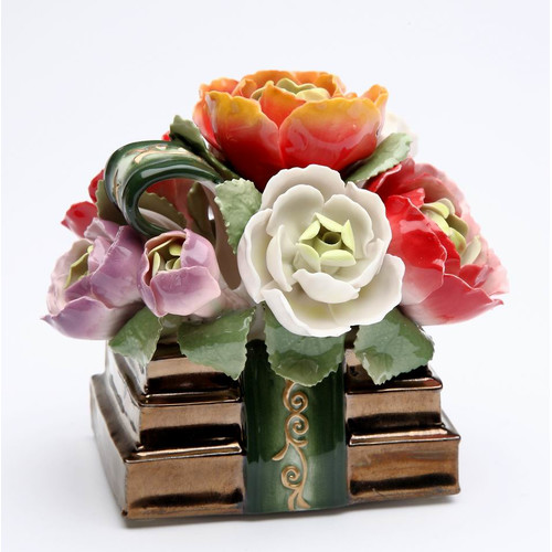 Cosmos Gifts The Book of Flowers Music Box by Cosmos Gifts Corp.