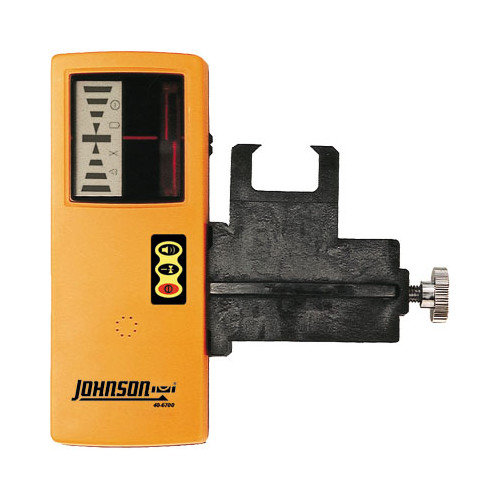 Johnson Level Model 40-6700 OneSided Laser Detector w/Clamp for Red Beam Rotating Lasers