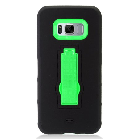 Samsung Galaxy S8 Case, by Insten Symbiosis Armor Hybrid Silicone/Hard PC Stand Case Phone Cover For Samsung Galaxy