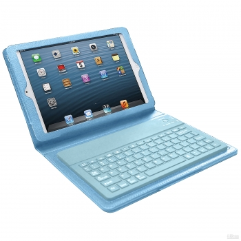 Bluetooth Keyboard Case for iPad Mini- Blue