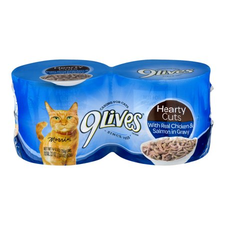 Image of 9 Lives Cat Food Chicken & Salmon in Gravy - 4 CT