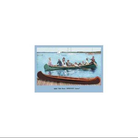 Sponson' Canoe Print (Canvas 20x30)
