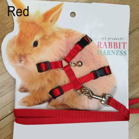 New Pet Rabbit Soft Harness Leash Adjustable Bunny Traction Rope for Running