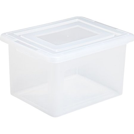 IRIS Letter and Legal Size File Storage Box, Clear (Clear Box)