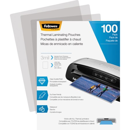 Fellowes, FEL5743301, Laminating Pouches - Letter, 3 mil, 100 Pack, 100 / Pack, Clear