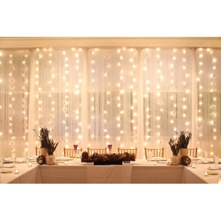 Perfect Holiday 600 Led Window Curtain Icicle Lights String Fairy Light Wedding Party Home Garden Decorations 6M 3M  Warm White