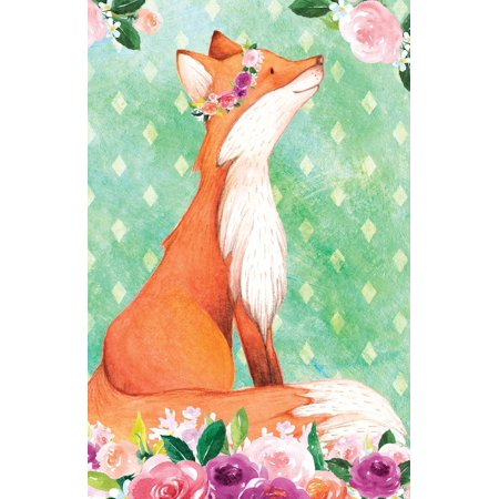 Bullet Journal for Animal Lovers Red Fox in Flowers: 162 Numbered Pages  with 150 Dot Grid Pages, 6 Index Pages and 2 Key Pages in Easy to Carry 5 5  X