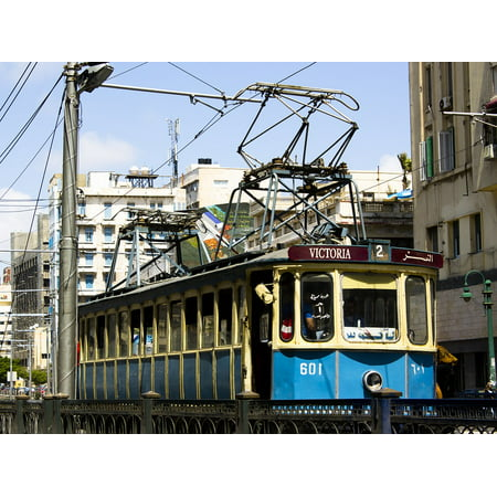 Canvas Print Alexandria Old Tram Egypt Stretched Canvas 10 x 14 ()