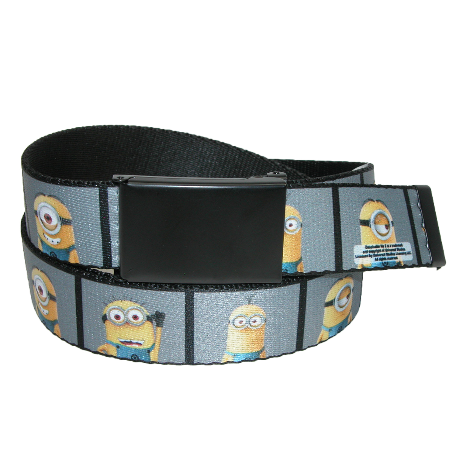 Buckle Down  Big & Tall Dispicable Me Minion Photo Booth 1.25 Inch Belt