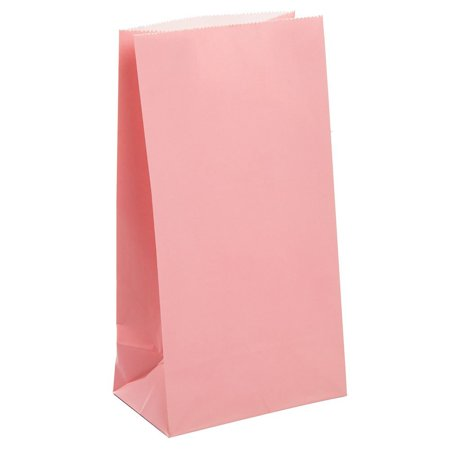 Pastel Pink Paper Party Favor Bags, 12ct, Pack of 12 Pastel Pink Paper Party Bags By Unique](Paper Party Favor Bags)