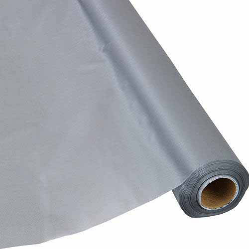 """Shindigz 40""""W Plastic Table Cover, 250' Roll, White"""