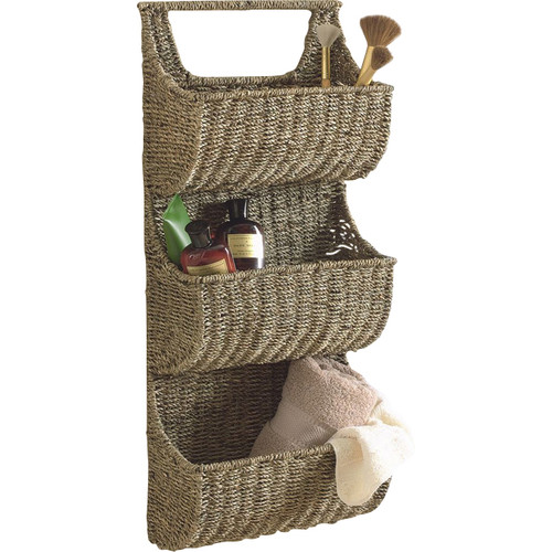 TAG Seagrass 13'' x 29'' x 5.25'' 3 Part Wall Basket