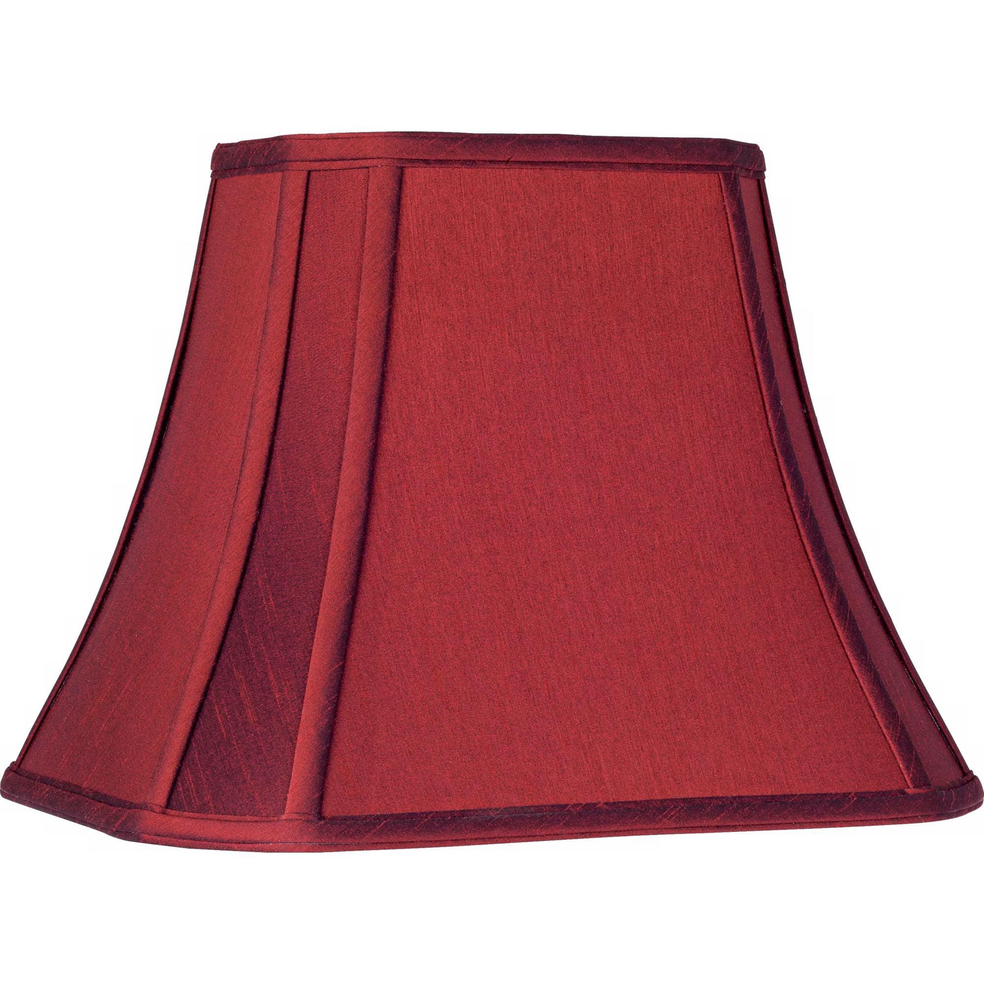 Springcrest Crimson Red Cut-Corner Lamp Shade 6/8x11/14x11 (Spider)