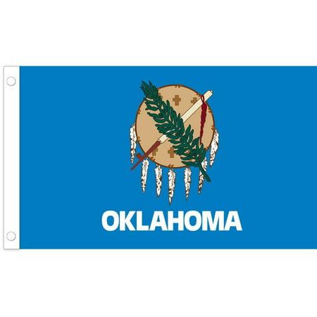 "U.S. Flag Store Oklahoma State Stick Flag - 12"" x 18"" - Cotton"