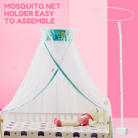 24223f868e1 Universal Canopy Drape Holder Rod Pole Bar Fits Baby Cot Bed Crib Basket -  Walmart.com