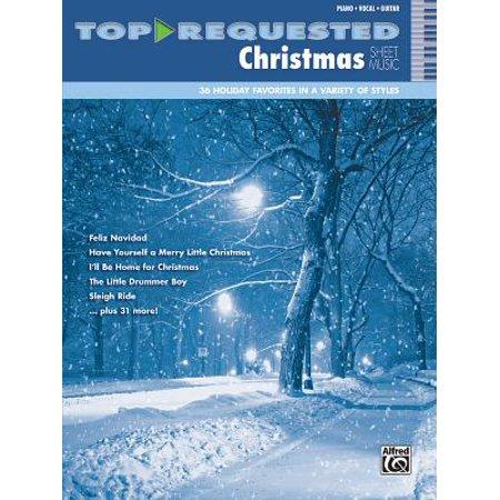 Top-Requested Christmas Sheet Music : Piano/Vocal/Guitar](Christmas Catalog Request)