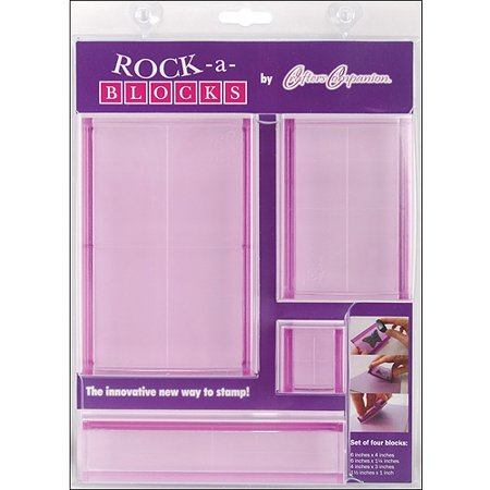 Crafter's Companion Rock-A-Blocks Stamping Block Set, 4/pkg