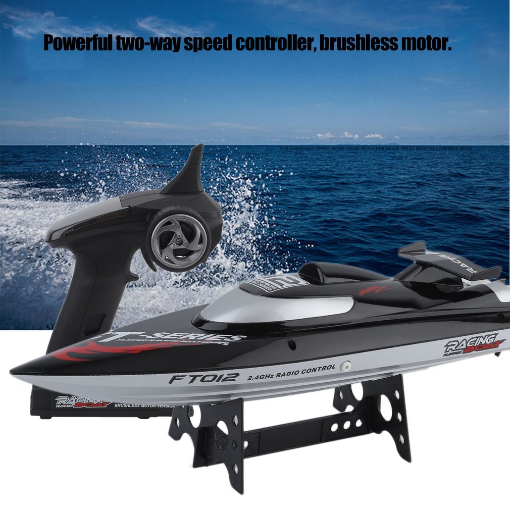 High Speed FT012 Generation 2 Remote Control 2.4G 4CH 4 Channel Brushless RC Racing Boat Great Fun Toy Black