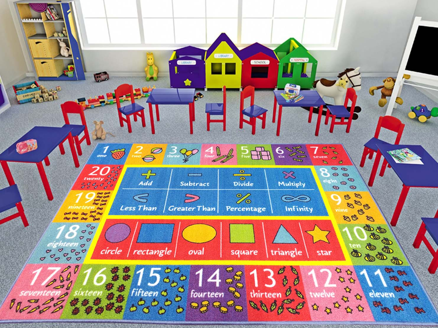 Math Activity Clroom Carpets