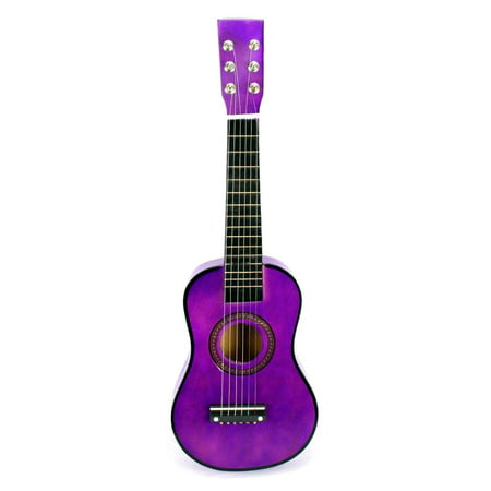 Acoustic Classic Rock 'N' Roll 6 Stringed Toy Guitar Musical Instrument w/ Guitar Pick, Extra Guitar String (Purple)