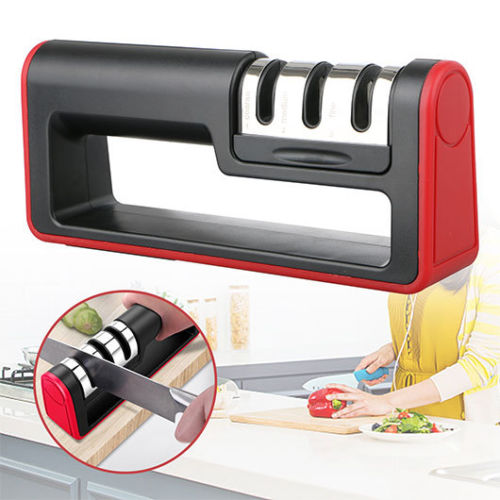 Professional Knife Sharpener Ceramic Tungsten Kitchen Sharpening System Tool