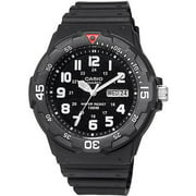 Casio Men's Analog Dive-Style Watch, Black Resin