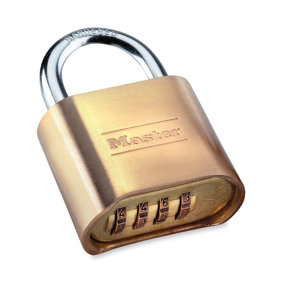 Master Lock Resettable Combination Lock, Brass