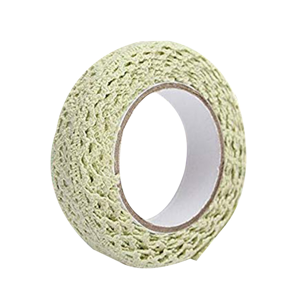 Cartoon Fabric Lace Tape Colorful Self Adhesive Border Band DIY Xmas Wedding Party Gift Ornament