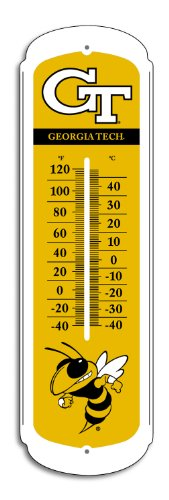 NCAA Georgia Tech Yellow Jackets 27-inch Outdoor Thermometer by Outdoor Thermometers