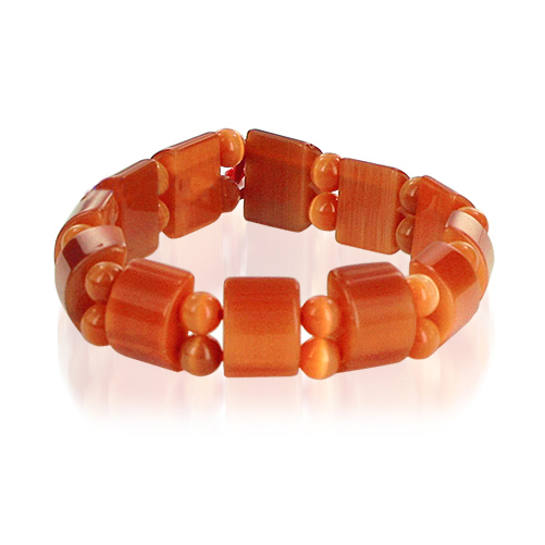 19mm Cats Eye 6 to 7 inch Adjustable Stretchable Wide Bracelet
