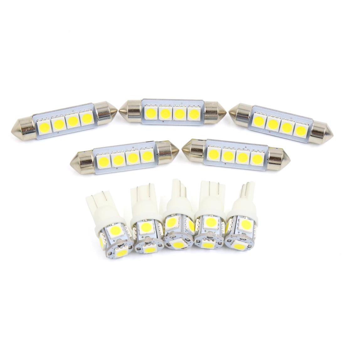 10x for  RAM 1500 2009-2016 White Car  Light Bulbs Interior Package Kit