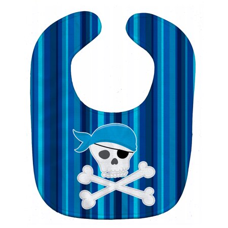 Caroline's Treasures Baby Bib, Pirate Skull & Crossbones