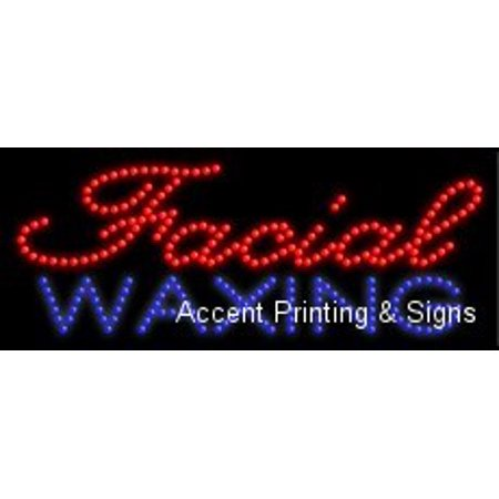 Facial Waxing LED Sign (High Impact, Energy Efficient)