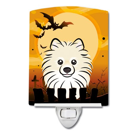Halloween Pomeranian Ceramic Night Light