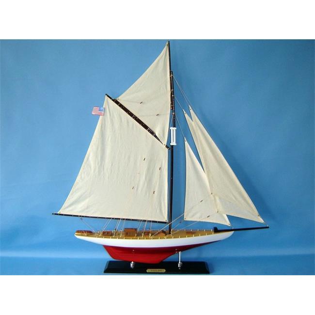 Handcrafted Decor Vigilant 35 Wooden Vigilant Limited Model Sailboat Decoration, 35 inch by