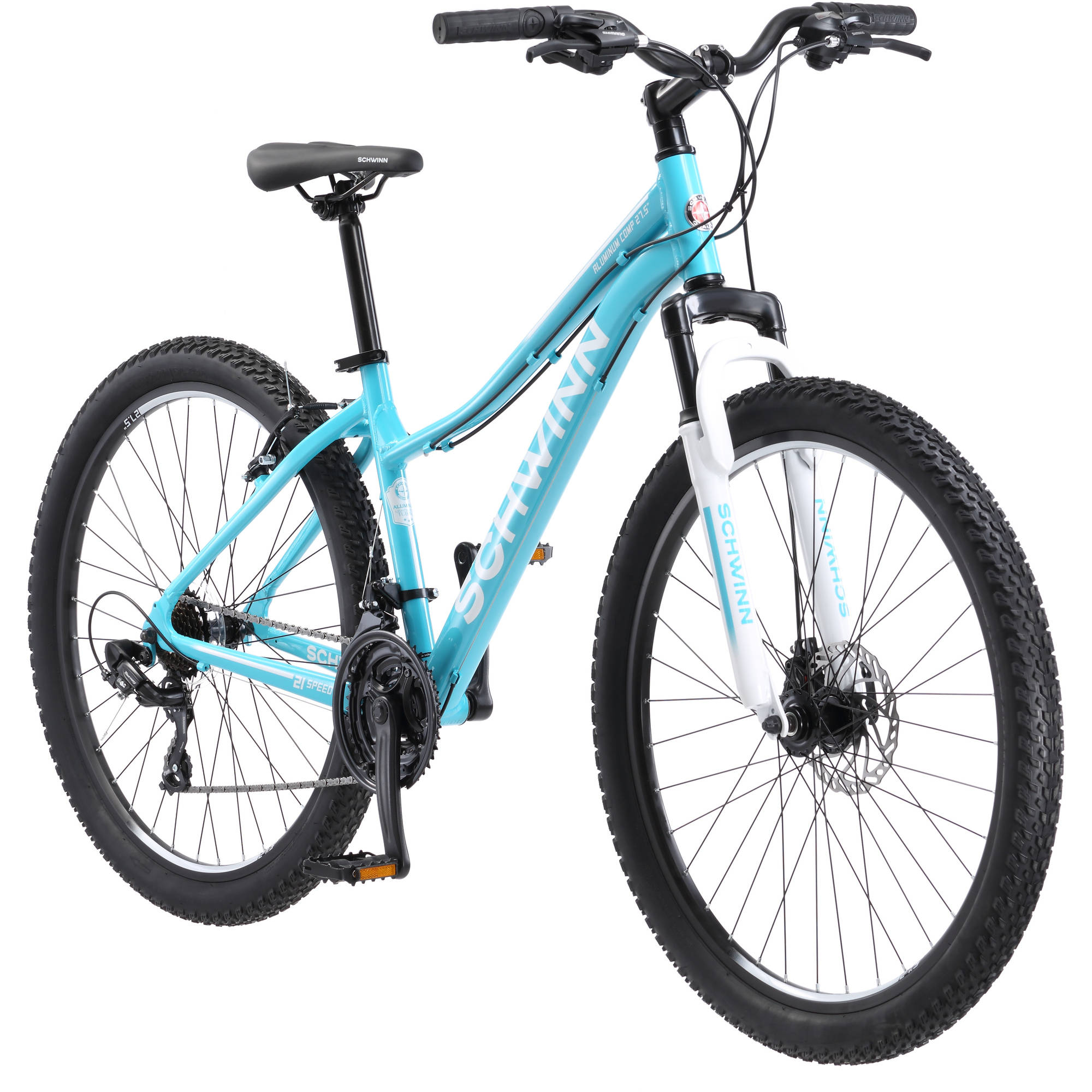 "27.5"" Schwinn Aluminum Comp Women's Mountain Bike, Light Blue"