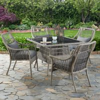 Better Homes & Gardens Belfair 5-Piece Outdoor Patio Wicker Dining Set