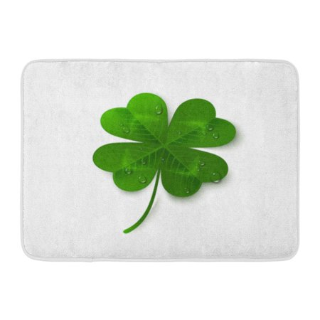 Matt Holliday Framed (GODPOK Green Saint Patrick's Day Four Leaf Clover with Dew Drops White Holiday 3D Lucky and Success Symbol Veins Rug Doormat Bath Mat 23.6x15.7 inch)