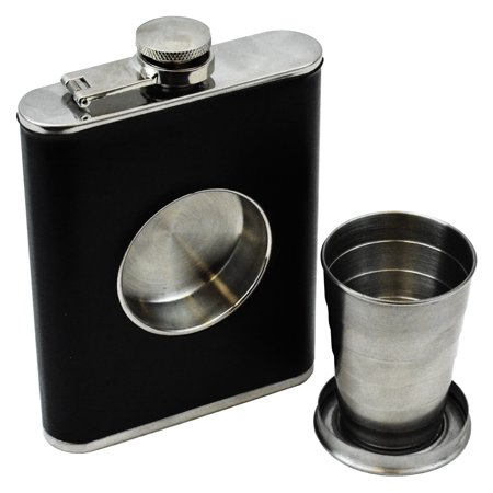 Fairly Odd Novelties Shot Flask - 8oz Hip Flask With Built In Collapsible Shot Glass](Novelty Flasks)