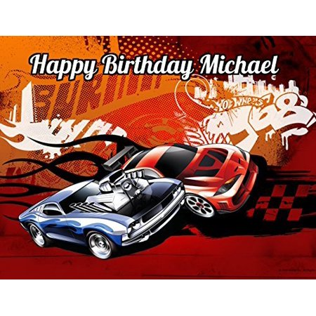 Hot Wheels Race Car Edible Image Photo Sugar Frosting Icing Cake Topper Sheet Personalized Custom Customized Birthday Party - 1/4 Sheet - 79049](Hot Wheels Birthday Cake)