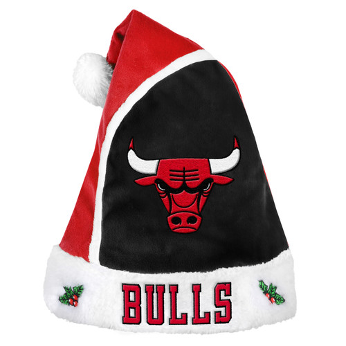 Forever Collectibles NBA 2015 Santa Hat, Chicago Bulls