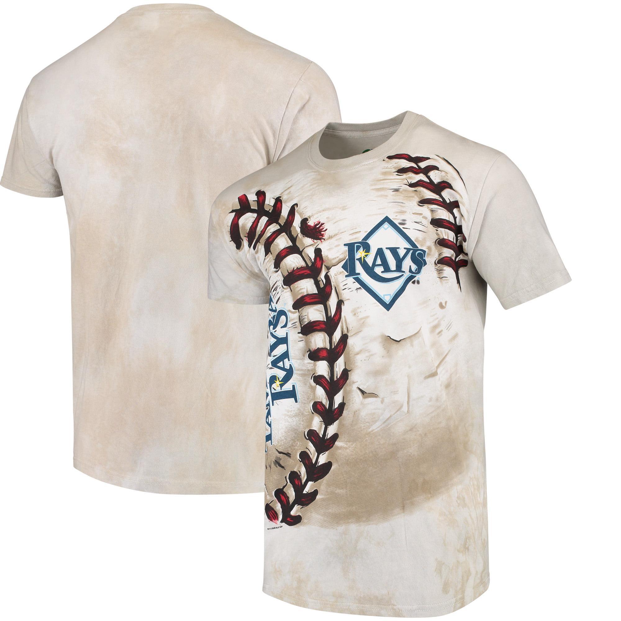 Tampa Bay Rays Hardball Tie-Dye T- Shirt - Cream